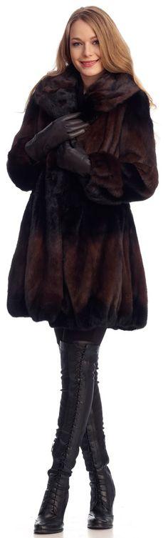 Mahogany Brown Mink Jacket