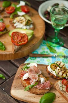 Bruschetta dinner party...fun, delicious, inexpensive, and healthy. Win/Win!