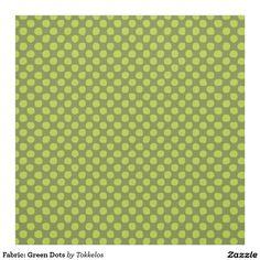 Fabric: Green Dots