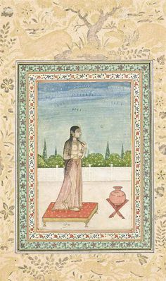 A naked beauty Provincial Mughal School, North India, late 18th century