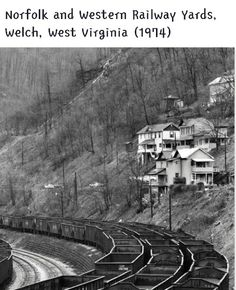 1974 Welch, WV is one of the towns in the amazing biography, The Glass Castle, by Jeannette Walls Virginia Hill, West Virginia History, Virginia Mountains, Appalachian People, Appalachian Mountains, West Va, Glass Castle, Norfolk Southern, Coal Mining