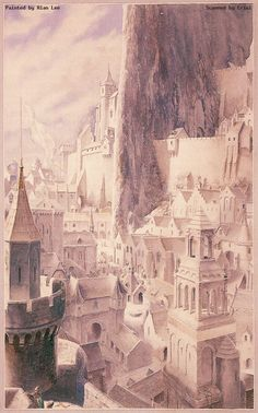 invisible cities? | Alan Lee - Minas Tirith (2)