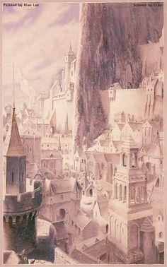 invisible cities? | Alan Lee - Minas Tirith (2)