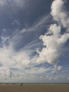 Majestic clouds at Scheveningen beach