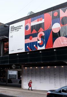 Riga IFF visual identity by Associates Partners et Sons FOLD Riga, Environmental Graphic Design, Environmental Graphics, Web Design, Layout Design, Identity Design, Visual Identity, Brochure Design, Rollup Design