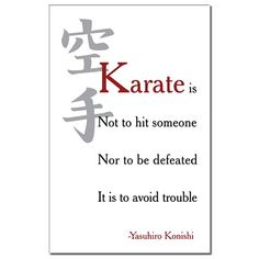 So true! I hate the stereotypes of how karate is only chopping wood! The best way to fight is to not fight