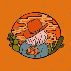 'Desert Cowgirl' by doodlebymeg Arte Equina, Dessin Old School, Posca Art, Design Tattoo, Illustration Art, Illustration Fashion, Girl Illustrations, Hippie Art, Aesthetic Art