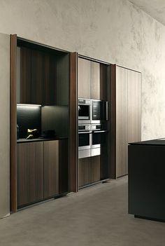 Kitchen pocket doors. #kitchen #pocketdoors #küche #taschentüren