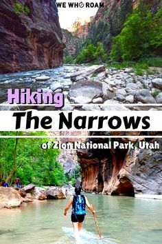 Hike deep into the canyons and up the Virgin River on one of the most popular hikes in Zion National Park known as The Narrows.
