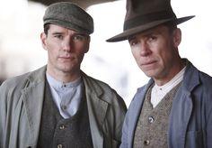 Cec (Anthony Sharpe) and Bert (Travis McMahon) in 'Murder on the Ballarat Train' (Series 1, Episode 2)