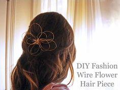 DIY Fashion: Wire Flower Hair Piece - College Fashion
