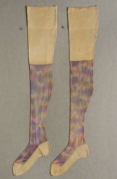 Pair of women's stockings, American, about 1910–25