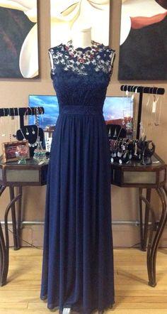 Formal Navy Empire Dress