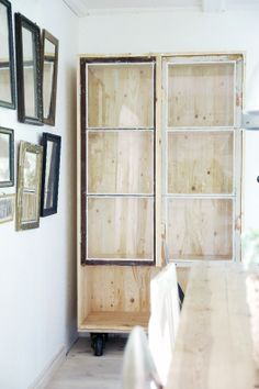 DIY cabinet from a great little Swedish design blog: http://mylovelythings.blogspot.com