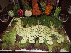 Dinosaur veggie tray Dino Dino party Brontosaurus