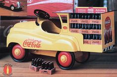 Coke Die-Cast Pedal Delivery Truck