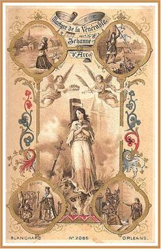 Picture of 19th Century Holy Card commemorating Joan of Arc's victory at Orleans