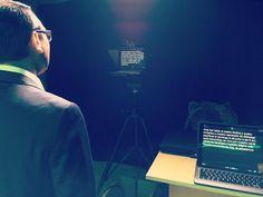 Today...Recording some short videos at the Studio... . #producerlife #studiolife #studiotime #productionhouse #production #productioncompany #tvset #tvstudio #teleprompter #producer #director #studioflow