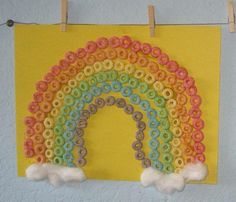 Fruit Loop Rainbow - Noah's Ark. We don't have fruit loops in UK or France but great idea!