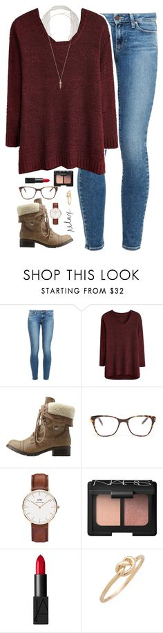 """""""when he smiles at you for no reason.❤️"""" by kaley-ii ❤ liked on Polyvore featuring Paige Denim, Charlotte Russe, Prism, Daniel Wellington, NARS Cosmetics, Ariel Gordon and Kendra Scott"""