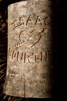 Cottage Chic Country Rustic Wedding Decor Custom Engraved Tree Log Personalized on Etsy, $29.99