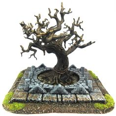 Love this tree, anyone know what model from Wargamers this is or have a link to where I can buy some like this for terrain? ~ update I believe these are GW - Citadel Wood