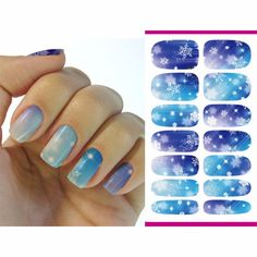 2016 Water Transfer Foil Nails Art Sticker Christmas Snowflake Flash Diamond Designs Nails Sticker Manicure Decor Decals