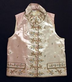 1785-1800, France, Met http://www.metmuseum.org/collection/the-collection-online/search/90978?rpp=30&pg=1&ft=waistcoat&pos=19