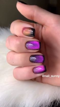 Check out this gorgeous nail set by Disney Acrylic Nails, Pink Acrylic Nails, Purple Nails, Glitter Nails, Lilac Nails With Glitter, Nail Art Designs Videos, Nail Art Videos, Nail Polish Designs, Nail Designs