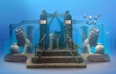 *HERACLEION ~ Lost Egypt City revealed after 1,200 yrs., 30' under Medeterranean Sea in Aboukir Bay near Alexandria, Egypt....Cleopatra's underwater palace Egypt! DG