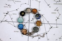 Solar System Bracelet with Pluto by TheScienceBoutique on Etsy