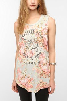 Grateful Dead Floral Muscle Tee  #UrbanOutfitters