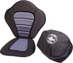 padded kayak seat with rear detachable storage bag from channelkayaks.uk