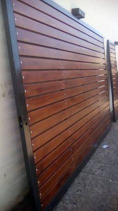 Resultado de imagen para portones de madera para quintas
