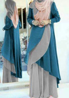 Set of Style spandex korean matter Stylish Dress Designs, Designs For Dresses, Stylish Dresses, Dress Muslim Modern, Muslim Dress, Abaya Fashion, Modest Fashion, Fashion Dresses, Kalamkari Dresses