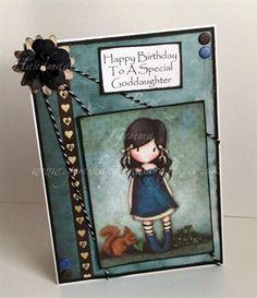 Gorjuss - Goddaughter Birthday Card