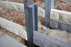 concrete sleeper retaining walls - Google Search