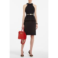 TULA PEPLUM DRESS. The back is lovely. A great day-to-evening dress.