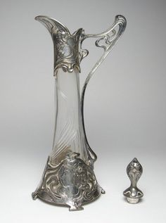Antique WMF Jugendstil Art Nouveau silver plt decanter