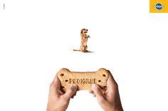 Case: Gamepad 大手ドッグフードブランド・ぺディグリーがブラジルで制作したプリント広告。  「ワンちゃんが大喜びのドックフード」というメッセージを訴求するためのクリエイティブがこちら