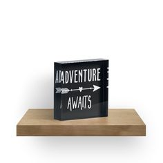 ADVENTURE AWAITS – BLACK – WHITE – DESIGN / ADVENTURE AWAITS – WHAT I LOVE MOST ABOUT THIS CRAZY LIFE IS THE ADVENTURE OF IT… / YOU MIGHT ALSO LIKE… /   / PS – If you buy some of my designs and take a picture of it, I'd love to see it,post it-share a link-I'd love to feature you in my REDBUBBLE store ❤ • Also buy this artwork on home decor, apparel, stickers, and more.