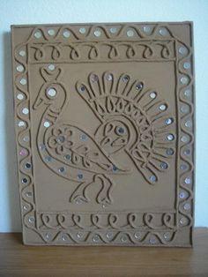 pp Mirror Crafts, Mirror Art, Mural Painting, Mural Art, Paintings, Rajasthani Art, Indian Arts And Crafts, Paisley Art, Clay Wall Art