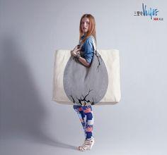 shopping bag San Li Tun Village Dinosaurian Egg 34 Creative Shopping Bag Advertisements