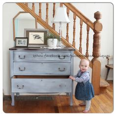 Miss Mustard Seeds Milk Paint: Dried Lavender with White Wax finish