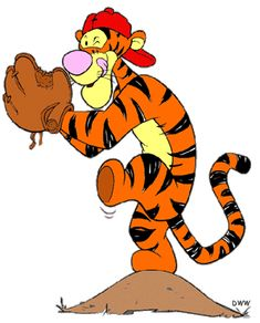 baseball and tigger  my two favorite things and the best colors ever!