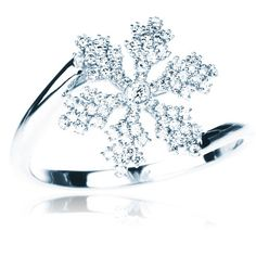 BIRKS SNOWFLAKE™ Collection,   snowflake ring  in 18kt white gold and diamonds. I WANT THIS RING! future non existent husband this can be my engagement ring!