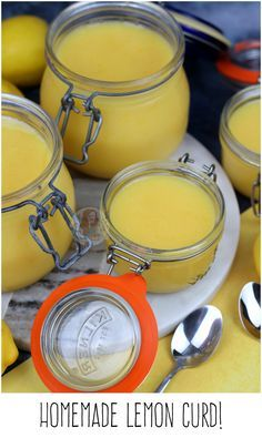Lemon Curd!! Zesty, fruity, and easy to make Homemade Lemon Curd! Perfect for use in Cupcakes, Pies, or just on its own!