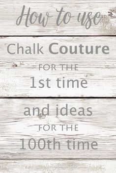 How to use Chalk Couture #chalkart How to use Chalk Couture. If it's your first project ever or you're looking for project ideas to use these awesome transfers. Country Design Style #chalkart #walldecor #ChalkCouture #Chalkology #ChalkArt #FarmhouseDecor