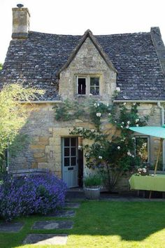 An inviting English cottage