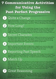 7 communicative activities to review the past perfect progressive